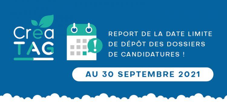 Report de la date limite de dépôt de candidatures